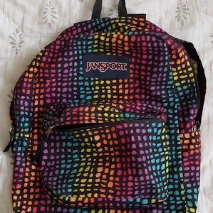 jansport rainbow backpack
